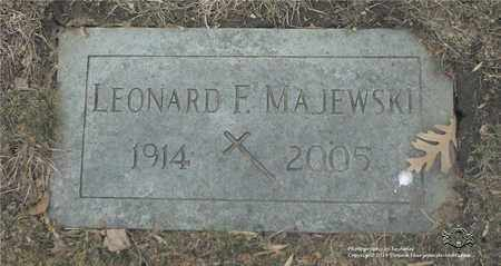 MAJEWSKI, LEONARD F. - Lucas County, Ohio | LEONARD F. MAJEWSKI - Ohio Gravestone Photos