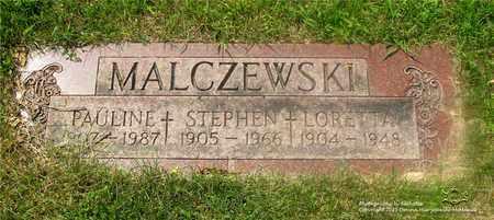 MALCZEWSKI, LORETTA - Lucas County, Ohio | LORETTA MALCZEWSKI - Ohio Gravestone Photos