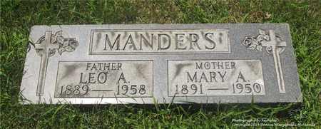 MANDERS, MARY A. - Lucas County, Ohio | MARY A. MANDERS - Ohio Gravestone Photos