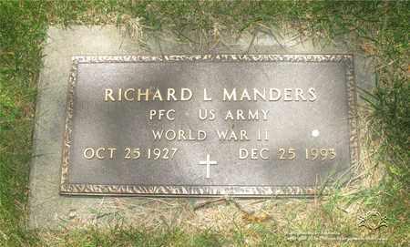 MANDERS, RICHARD L. - Lucas County, Ohio | RICHARD L. MANDERS - Ohio Gravestone Photos
