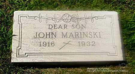MARINSKI, JOHN - Lucas County, Ohio | JOHN MARINSKI - Ohio Gravestone Photos