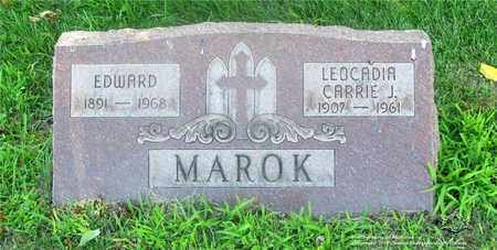 MAROK, EDWARD - Lucas County, Ohio | EDWARD MAROK - Ohio Gravestone Photos