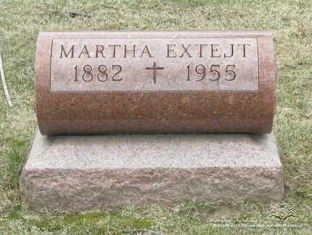EXTEJT, MARTHA - Lucas County, Ohio | MARTHA EXTEJT - Ohio Gravestone Photos