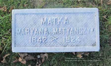 MATYANCZYK, MARYANA - Lucas County, Ohio | MARYANA MATYANCZYK - Ohio Gravestone Photos