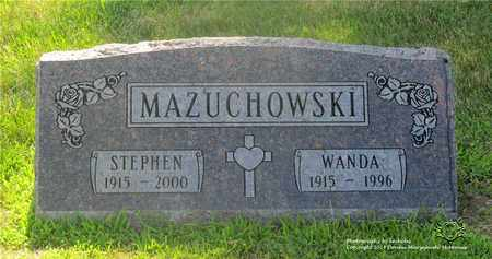MAZUCHOWSKI, WANDA - Lucas County, Ohio | WANDA MAZUCHOWSKI - Ohio Gravestone Photos