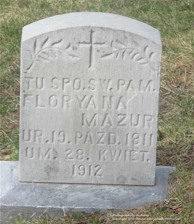 MAZUR, FLORYANA - Lucas County, Ohio   FLORYANA MAZUR - Ohio Gravestone Photos