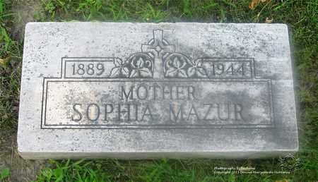 MAZUR, SOPHIA - Lucas County, Ohio | SOPHIA MAZUR - Ohio Gravestone Photos