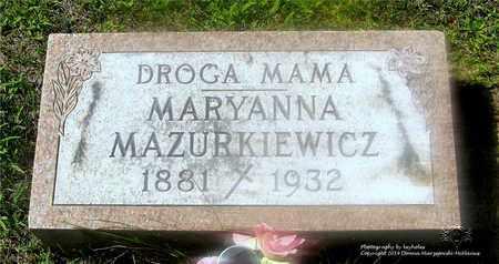 MAZURKIEWICZ, MARYANNA - Lucas County, Ohio   MARYANNA MAZURKIEWICZ - Ohio Gravestone Photos
