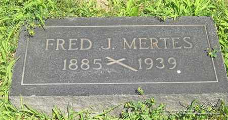 MERTES, FRED J. - Lucas County, Ohio | FRED J. MERTES - Ohio Gravestone Photos