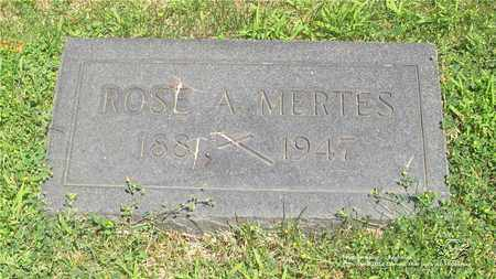 MERTES, ROSE A. - Lucas County, Ohio   ROSE A. MERTES - Ohio Gravestone Photos