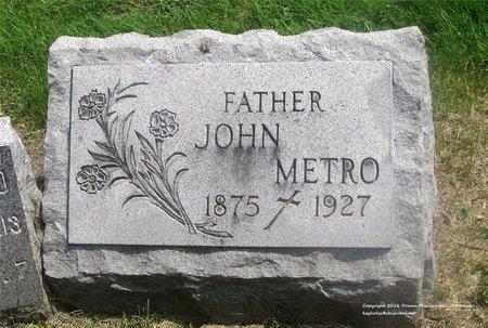 METRO, JOHN - Lucas County, Ohio   JOHN METRO - Ohio Gravestone Photos