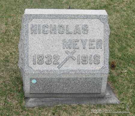 MEYER, NICHOLAS - Lucas County, Ohio | NICHOLAS MEYER - Ohio Gravestone Photos