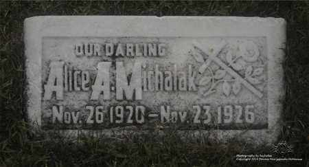 MICHALAK, ALICE A. - Lucas County, Ohio | ALICE A. MICHALAK - Ohio Gravestone Photos
