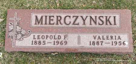 MIERCZYNSKI, VALERIA - Lucas County, Ohio | VALERIA MIERCZYNSKI - Ohio Gravestone Photos