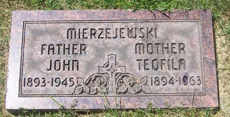 MIERZEJEWSKI, THEOFILA - Lucas County, Ohio | THEOFILA MIERZEJEWSKI - Ohio Gravestone Photos