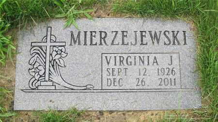 PLENZLER MIERZEJEWSKI, VIRGINIA J. - Lucas County, Ohio | VIRGINIA J. PLENZLER MIERZEJEWSKI - Ohio Gravestone Photos