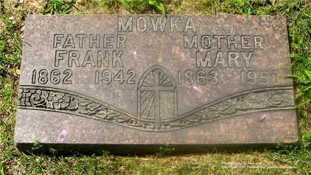 MOWKA, MARY - Lucas County, Ohio | MARY MOWKA - Ohio Gravestone Photos