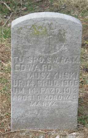 MUSZYNSKI, EDWARD - Lucas County, Ohio | EDWARD MUSZYNSKI - Ohio Gravestone Photos