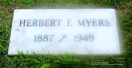 MYERS, HERBERT F. - Lucas County, Ohio   HERBERT F. MYERS - Ohio Gravestone Photos