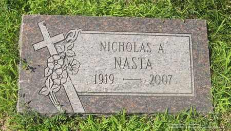 NASTA, NICHOLAS A. - Lucas County, Ohio   NICHOLAS A. NASTA - Ohio Gravestone Photos