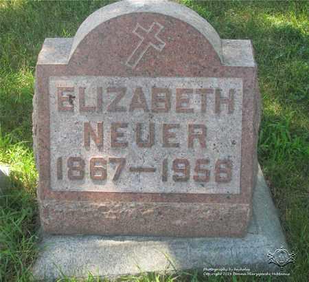 NEUER, ELIZABETH - Lucas County, Ohio | ELIZABETH NEUER - Ohio Gravestone Photos