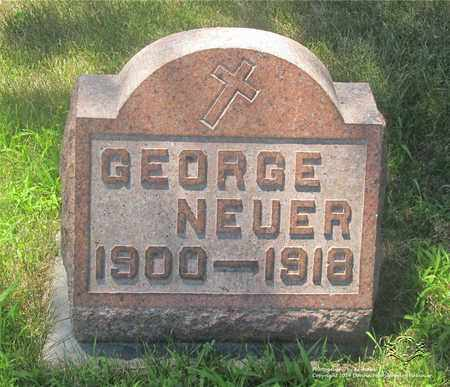 NEUER, GEORGE - Lucas County, Ohio | GEORGE NEUER - Ohio Gravestone Photos