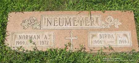 NEUMEYER, NORMAN A. - Lucas County, Ohio | NORMAN A. NEUMEYER - Ohio Gravestone Photos