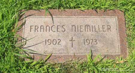 NIEMILLER, FRANCES - Lucas County, Ohio   FRANCES NIEMILLER - Ohio Gravestone Photos