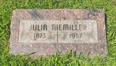 NIEMILLER, JULIA - Lucas County, Ohio | JULIA NIEMILLER - Ohio Gravestone Photos