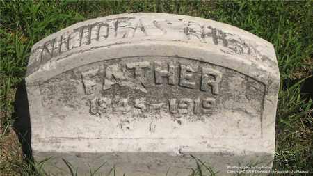 NIESS, NICHOLAS - Lucas County, Ohio | NICHOLAS NIESS - Ohio Gravestone Photos