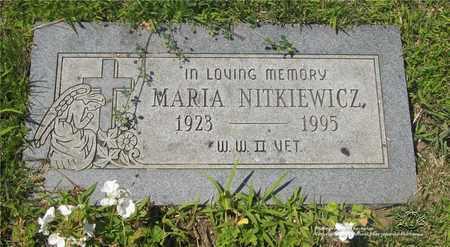 NITKIEWICZ, MARIA - Lucas County, Ohio   MARIA NITKIEWICZ - Ohio Gravestone Photos