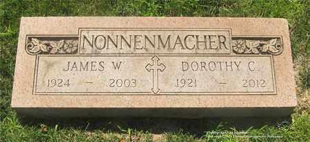 NONNENMACHER, JAMES W. - Lucas County, Ohio | JAMES W. NONNENMACHER - Ohio Gravestone Photos