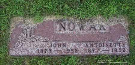 NOWAK, JOHN - Lucas County, Ohio | JOHN NOWAK - Ohio Gravestone Photos