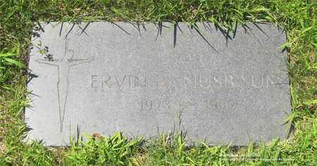 NUSBAUM, ERVIN - Lucas County, Ohio | ERVIN NUSBAUM - Ohio Gravestone Photos
