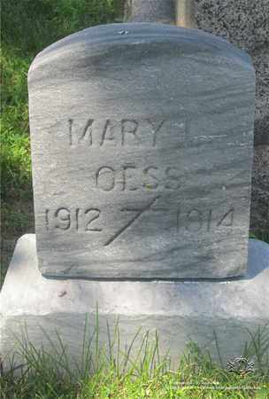 OESS, MARY L. - Lucas County, Ohio | MARY L. OESS - Ohio Gravestone Photos
