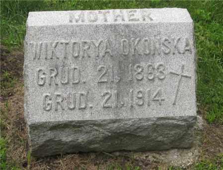 OKONSKA, WIKTORYA - Lucas County, Ohio   WIKTORYA OKONSKA - Ohio Gravestone Photos