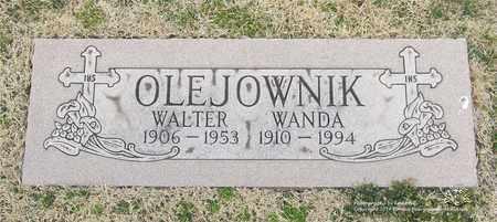 OLEJOWNIK, WALTER - Lucas County, Ohio | WALTER OLEJOWNIK - Ohio Gravestone Photos