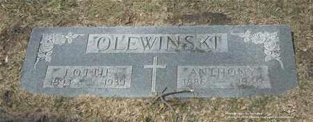 OLEWINSKI, ANTHONY - Lucas County, Ohio | ANTHONY OLEWINSKI - Ohio Gravestone Photos