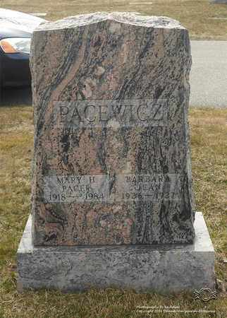 PACER, MARY H. - Lucas County, Ohio | MARY H. PACER - Ohio Gravestone Photos