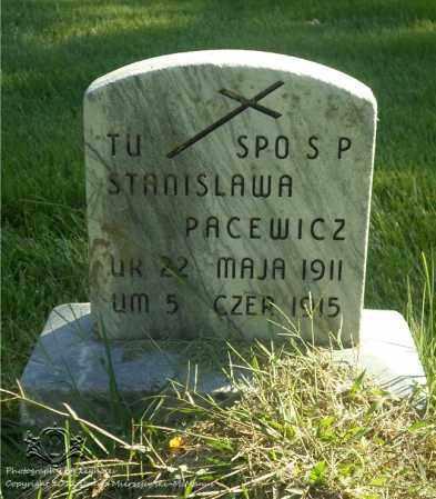 PACEWICZ, STANISLAWA - Lucas County, Ohio | STANISLAWA PACEWICZ - Ohio Gravestone Photos