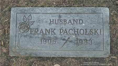 PACHOLSKI, FRANK - Lucas County, Ohio   FRANK PACHOLSKI - Ohio Gravestone Photos