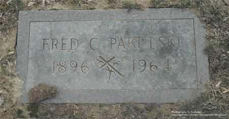 PAKULSKI, FRED C. - Lucas County, Ohio   FRED C. PAKULSKI - Ohio Gravestone Photos
