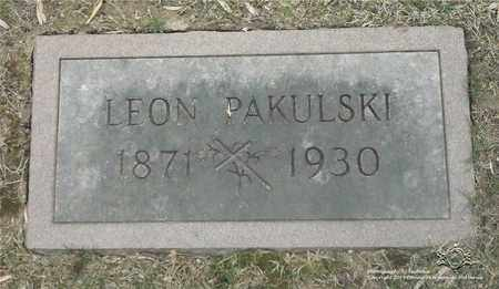 PAKULSKI, LEON - Lucas County, Ohio   LEON PAKULSKI - Ohio Gravestone Photos