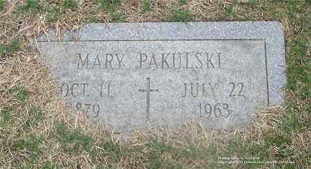PAKULSKI, MARY - Lucas County, Ohio | MARY PAKULSKI - Ohio Gravestone Photos