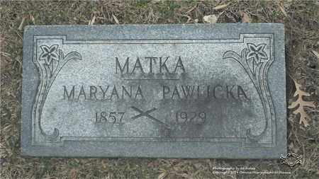 NOWAK PAWLICKA, MARYANA - Lucas County, Ohio | MARYANA NOWAK PAWLICKA - Ohio Gravestone Photos