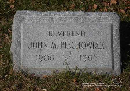 PIECHOWIAK, JOHN M. - Lucas County, Ohio | JOHN M. PIECHOWIAK - Ohio Gravestone Photos