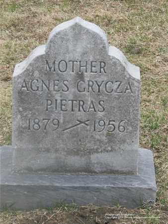 PIETRAS, AGNES - Lucas County, Ohio | AGNES PIETRAS - Ohio Gravestone Photos