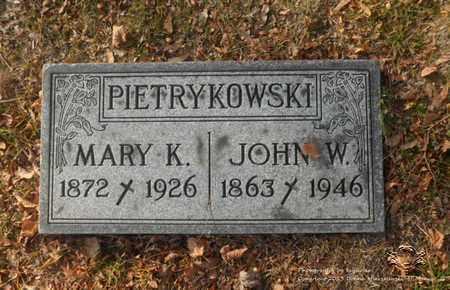 PIETRYKOWSKI, JOHN W. - Lucas County, Ohio | JOHN W. PIETRYKOWSKI - Ohio Gravestone Photos