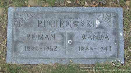 PIOTROWSKI, ROMAN - Lucas County, Ohio | ROMAN PIOTROWSKI - Ohio Gravestone Photos