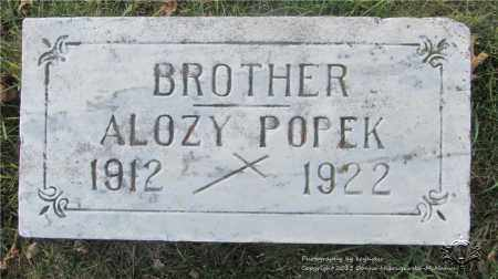 POPEK, ALOZY - Lucas County, Ohio | ALOZY POPEK - Ohio Gravestone Photos